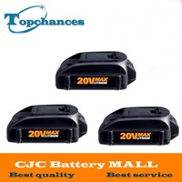High Quality 3PCS Newest 20V 2000mAh Lithium Replacement Battery For WORX Wg151 Wg151 5 Wg155 Wg155