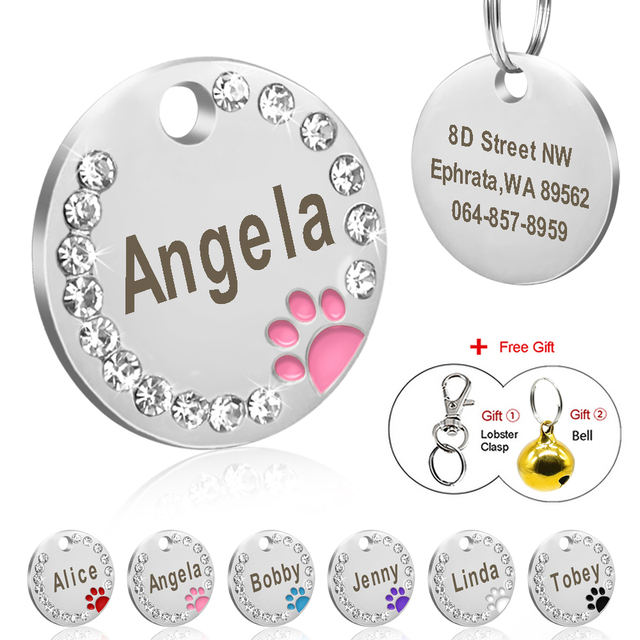 Dog Tag Personalizzati Pet Puppy Cat ID Tag Inciso Personalizzato Accessori Del