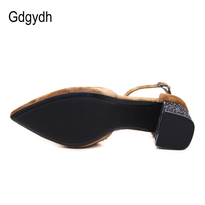 Gdgydh Ayaq Dəsti Kristal Qadın Səndəllər Meydanı Heels Bahar - Qadın ayaqqabıları - Fotoqrafiya 3