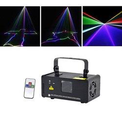 Sharelife Mini  pełny kolor RGB DMX skanowania laserowego światła PRO DJ strona główna koncert Beam efekt oświetlenia scenicznego zdalnego muzyki auto DM-RGB400