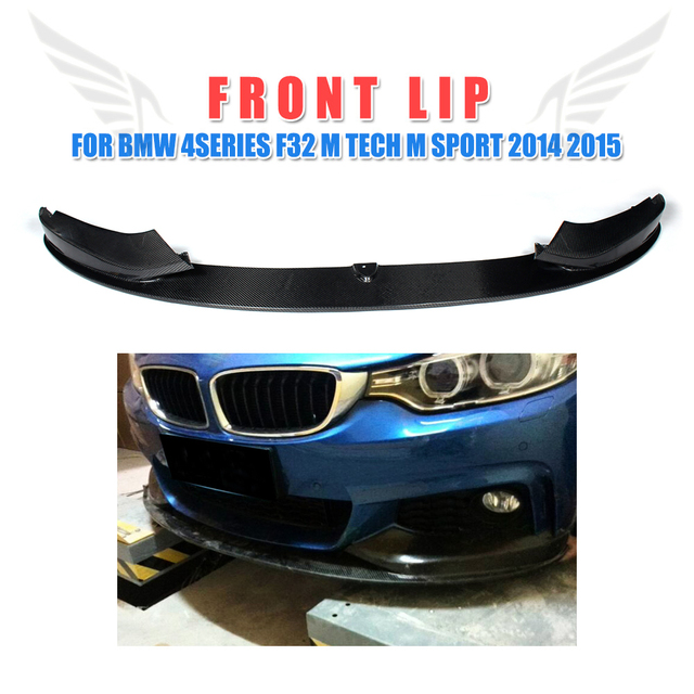 Carbon faser/FRP Unlackiert Frontschürze Lip Spoiler für BMW 4 Serie F32 M Sport M Tech stoßstange 2014 -2015 Front Kinn Spoiler
