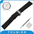 16mm 18mm 20mm 22mm 24mm Calf Genuine Leather Watch Band for Hamilton Butterfly Buckle Strap Wrist Belt Bracelet Black Brown