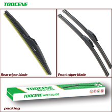 Front And Rear Wiper Blades For Daihatsu Charade 2011 - 2016 Rubber Windscreen Windshield Wipers Auto Car Accessories 24+15+12