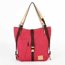 2016 Многофункциональный холст сумка женский плечо Колледж моды рюкзак женщины холст рюкзаки 1070