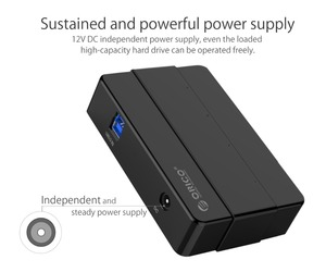 Image 5 - ORICO 4 Ports USB 3.0 HUB 5 Gbps Super Speed Portable USB Splitter With 12V Power Adapter For Laptop Desktop Accessories