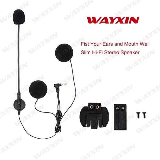 d0dc73600a1 WAYXIN R6 intercom Headset & Clip Set Accessories for wayxin R6 Bluetooth  Helmet Interphone Intercom Headphone Jack Plug