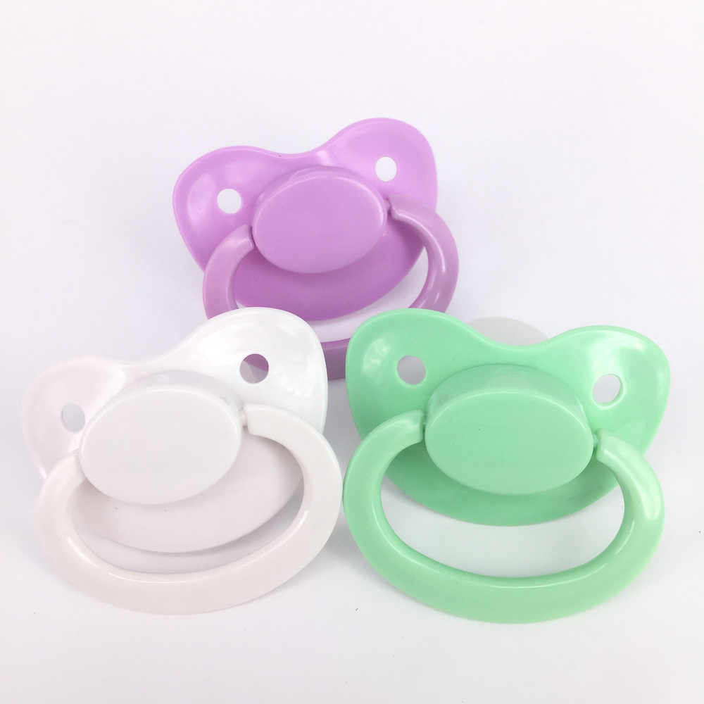 24 colores Ddlg bebé niña Abdl clásico personalizado de talla grande de silicona adulto chupete poco espacio Daddys chica adulto bebé chupete para niño