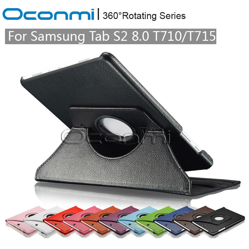 360 Rotating PU Leather cover case for Samsung Galaxy TAB S2 8.0 SM-T710 SM-T715 with stand function Tablet Protective cover charter club new blue sky women s medium m cable knit crewneck sweater $59 359