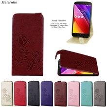 Vertical Flip Leather Case For Asus ZenFone 2 Laser ZE550KL / ZE500KL Retro Wallet  Back Cover 3D Embossed Rose flower Cases
