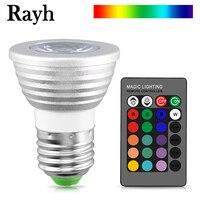 Bombilla LED RGB de 16 colores, foco mágico de 110V, 220V, 12V, luz de escenario regulable, Control remoto IR de 24 teclas, E27, E14, MR16, GU10