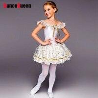 2015 White Swan Lake Ballet Tutu Dress Girls Ballerina Tutu Dress Children Dance Clothing Ropa De