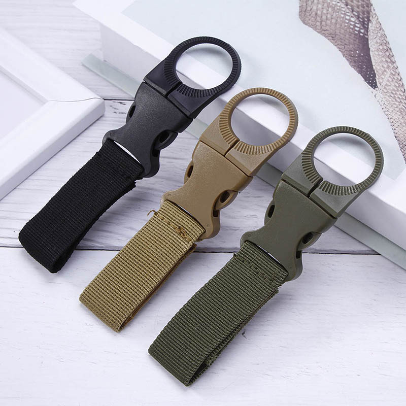 Tactical Backpack Military Clip Hook Water Bottle Holder Bushcraft Outdoor EDC Webbing Tool Bike Accessory Climb Carabiner