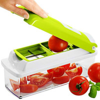 1PC Practical Multifunctional Super Vegetable Cutter Peeler Slicer Grater BOX Salad Tool Knife