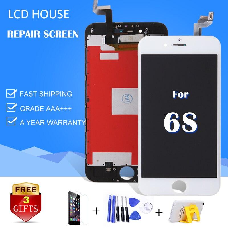 No. 1 AAA 4,7 zoll LCD Für iPhone 6 s Display Touchscreen Mit Digitizer Ersatz Montage Reparatur Teile A1633 a1688 A1700