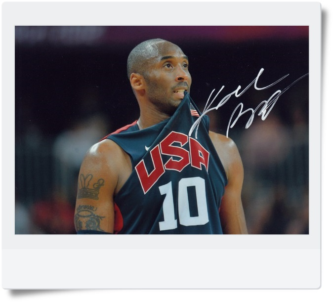 signed Kobe Bryant autographed  original photo 7  inches free shipping 08201706 signed kobe bryant autographed original photo 7 inches free shipping 08201709