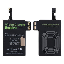 цена на Qi Wireless Charger Receiver Module for Samsung Galaxy Note 4 Note4 Apply for Qi Wireless Charging Pad 5V 750mA Black