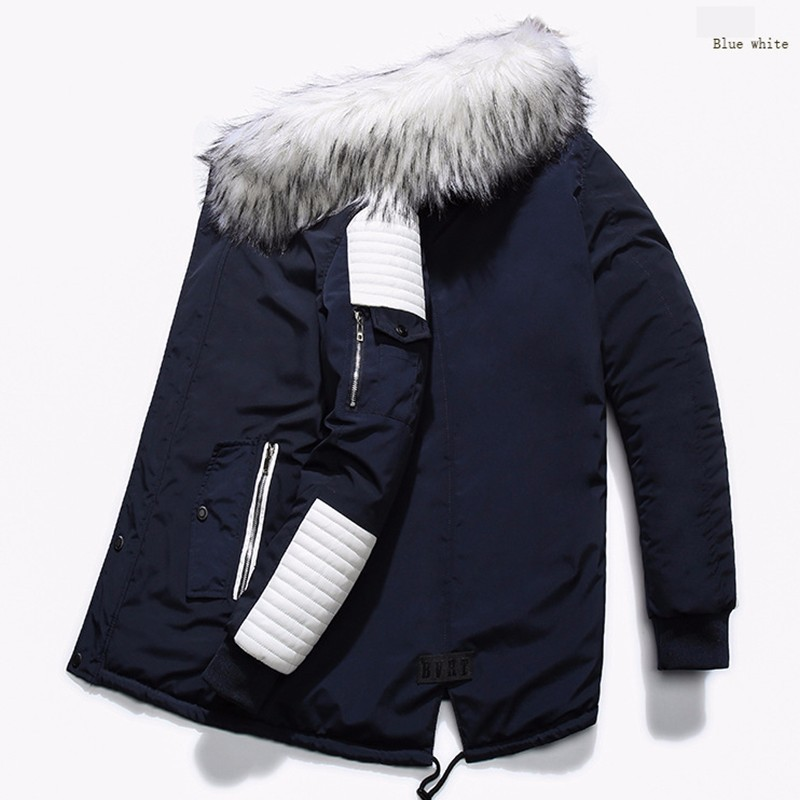 ff082d25e US $54.99 46% OFF|KOSMO MASA Black Long Man Winter Jacket Men Warm Military  Fur Hooded 2018 Mens Jackets And Coats Zipper Down Men Parkas MP029 -in ...