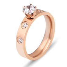 Stainless Steel Ring Rose Gold Ring Silver Wedding Love Ring Screwdriver Fashion Jewelry Ring For Women