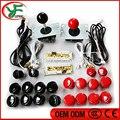 DIY Arcade game parts  PC of  Zero Delay Arcade DIY Kit Mame USB Encoder +Sanwa type Joystick + Sanwa Push Buttons+Wire harness