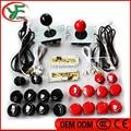 DIY piezas de juego de Arcade PC de Arcade DIY Kit de Demora Cero tipo de Encoder + Sanwa Joystick Mame USB + Sanwa Botones Pulsadores + mazo de cables