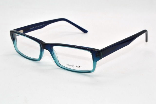 Monturas de acetato templo de primavera azul de La Manera mujeres de los hombres Por Encargo Receta miopía gafas Fotocromáticas-1 a-9
