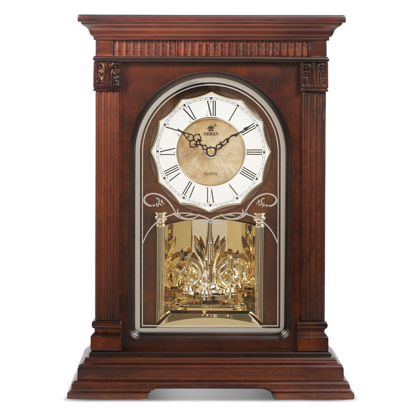 POWER High-end Solid Wooden Desk Clock Silent Quartz Movement Table Clock Crystal Masa Saati Saat Use 1*AA+2*C Battery