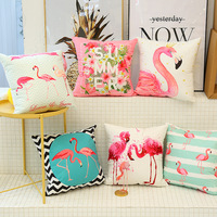 Cute flamingo cushion pillow case flamingo party bedroom sofa home decoration accessories birthday/wedding favors and gifts