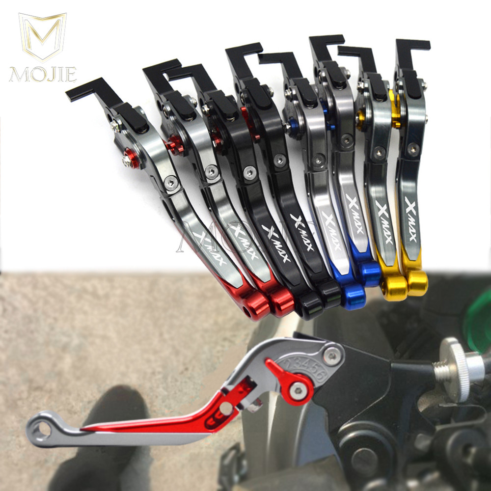 For Yamaha X-MAX 125 250 400 XMAX X MAX Motorcycle Levers X-MAX Adjustable Folding Extendable XMAX X MAX Brake Clutch Levers Set for ducati 848 evo 749 999 1098 1198 1199 899 panigale red motorcycle adjustable folding extendable brake clutch levers