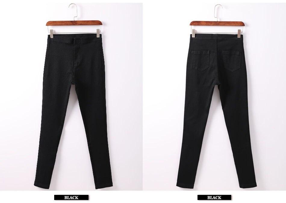 Acquista Jeans Stretti Di Garemay Donna Pantalon Pantaloni Denim ... 49383bb95ca