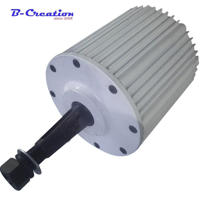 Générateur d'aimant permanent de terre Rare de 2.5kw 2500w 220v 380v générateur de vent triphasé générateur d'aimant Permanent à bas régime
