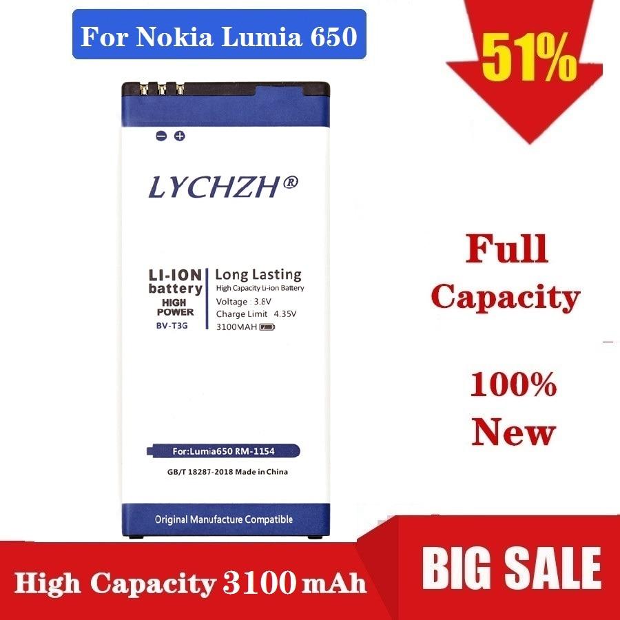 High Quality 3100mAh BV-T3G battery for Microsoft Nokia Lumia 650 RM-1154 BV T3G Mobile phone
