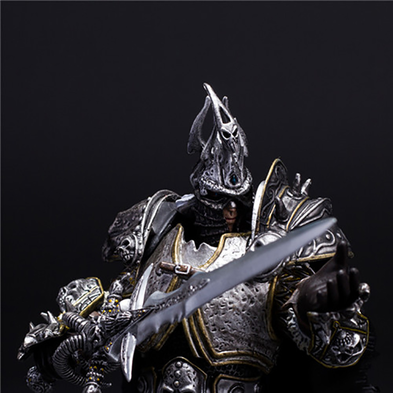 wow Lich King Arthas Death Knight  PVC Action Figure Collectible Model Toy  1