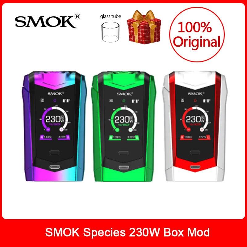 SMOK origine Espèces Mod 230 W écran tactile Mod VW/boîte de tc Mod 18650 Batterie Pour cigarette électronique espèces kit