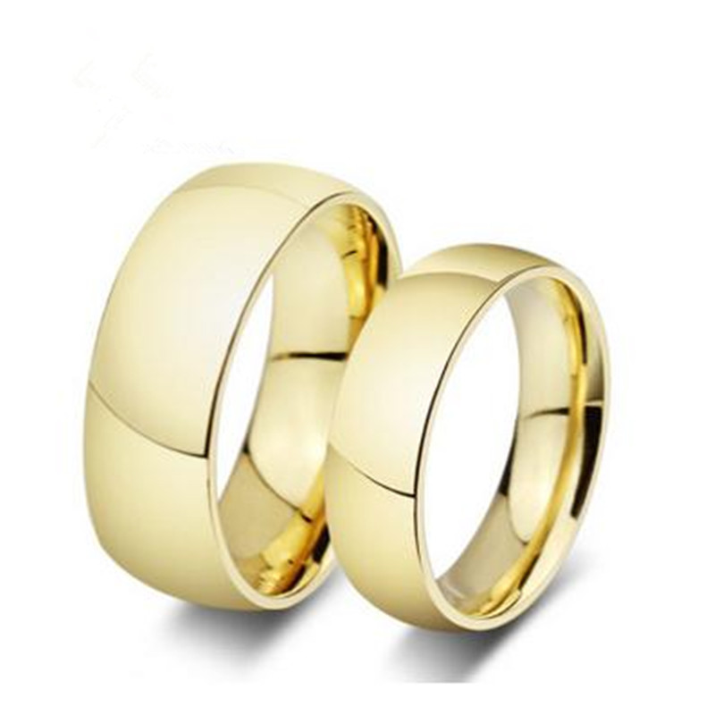 Fashion 2017 stainless steel jewelry simple men's ring smooth couple  ring