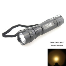 U-F 501B 1xcree XM-L2 3500 К теплый белый свет SMO светодиодный фонарик(1x18650