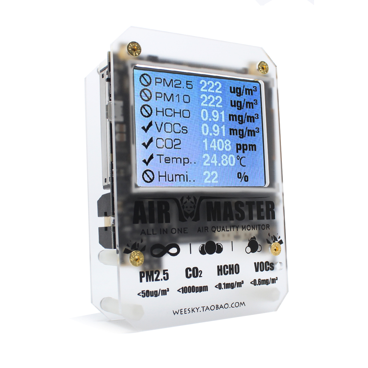 Воздуха мастер AM7 плюс газ Сенсор дома PM2 тестер детектор DART формальдегида 2-FE5 VOC Sensirion 0053 CO2 с открытым исходным кодом