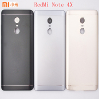 Original For Xiaomi Redmi Note 4X Metal Battery Back Rear Cover Door Housing Cover Case With