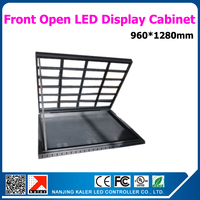 960*1280mm waterproof open front led cabinet for outdoor / indoor led video wall