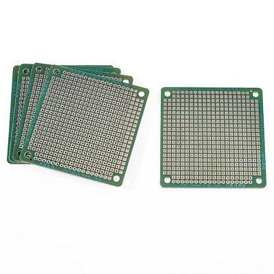 5 Pcs FR-4 Single Side DIY Universal PCB Board Stripboard 6cm x 6cm 5pcs copper tone single side pcb printed circuit board stripboard 3 5 x 2 8