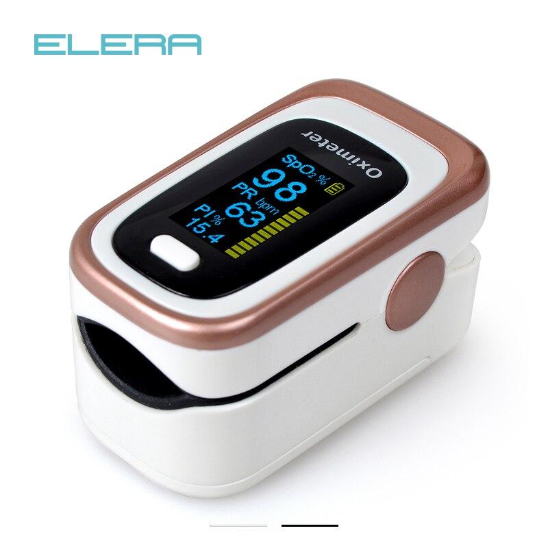 ELERA doigt oxymètre De pouls 4 paramètre SPO2 PR PI ODI4 Oximetro De Dedo 8 heures surveillance du sommeil Pulsioximetro