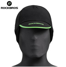 ROCKBROS Cycling Caps Mens Winter Thermal Fleece Outdoor Sports Riding Running Windproof Hats Ear Protection