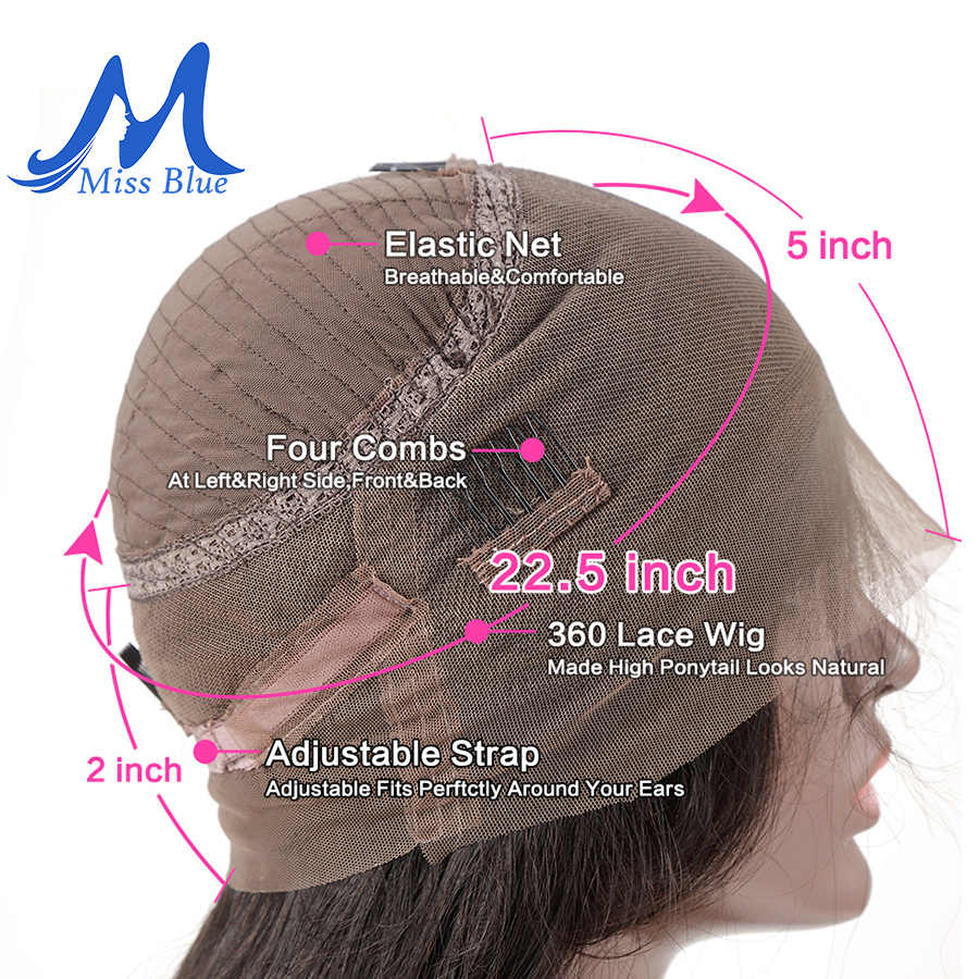 Missblue Malaysian Curly 360 Lace Frontal Wigs With Baby Hair Pre Plucked Remy Human Hair Lace Front Wigs For Black Women