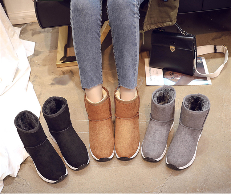 Winter Snow Boots Women Casual Shoes Slip On Warm Plush Women Ankle Boots Flat Heel Sport Ladies Shoes Booties Botas Mujer XZ82 (1)