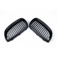 1 Pair Grilles Couple Black Kidney Front Bumper For 06 09 BMW E92 E93 M3 2 Dr Grill Durable