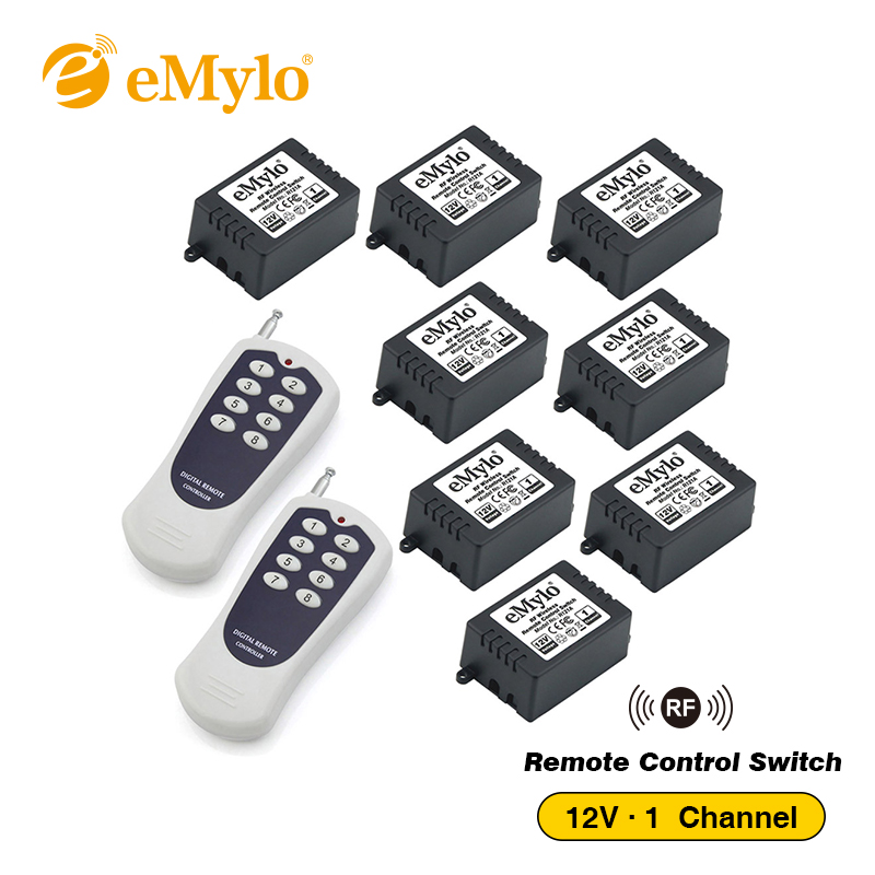 Transmetteur 1 CH 1 Canal AC DC 12V RF Télécommande sans fil