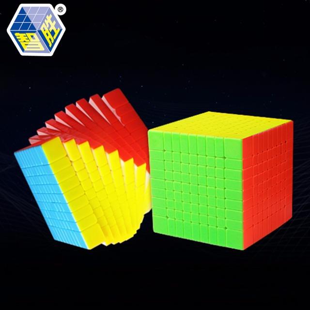 ZhiSheng HuangLong 9x9x9 Forma Cuadrada Competencia Cubo Mágico Giro Puzzle 9 cm-Colorido