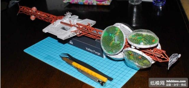 Toys & Hobbies Valley Made Large Immigrant Spaceship With Film 3d Paper Model Diy Fine Craftsmanship