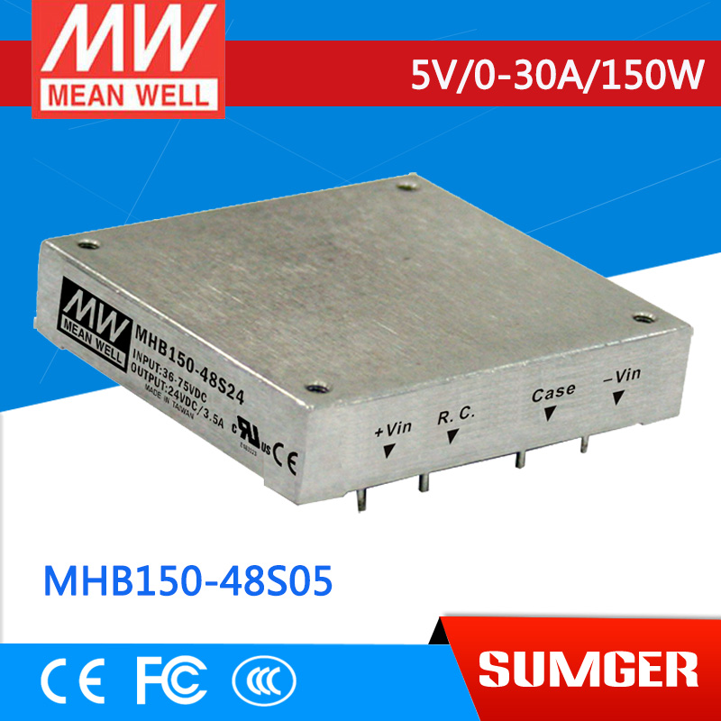1MEAN WELL original MHB150-48S05 5V 30A meanwell MHB150 5V 150W DC-DC Half-Brick Regulated Single Output Converter