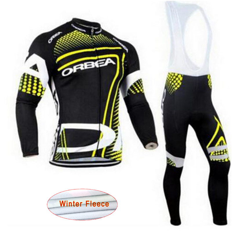 ORBEA 2018 Cycling Jersey Winter thermal fleece Bike clothes bib pants MTB bicycle clothing wear set ropa maillot ciclismo A2