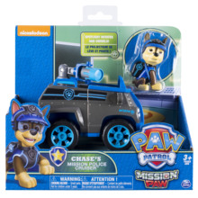 Original Nickelodeon Paw Patrol Chase's Mission Police Cruiser Spin Master Mission Paw Vehicle Toy Anime Action Figure Toys Gift spin master nickelodeon paw patrol машина трансформер маршал со звуком 16704